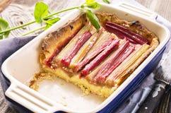 Pastelaria com ruibarbo Imagem de Stock Royalty Free