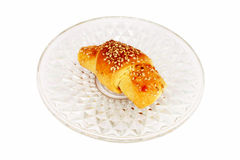 Pastelaria cozida fresca quente com sementes de sésamo Fotos de Stock Royalty Free