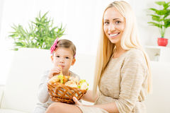 A pastelaria da mamã é o melhor Fotografia de Stock Royalty Free