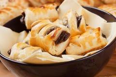 Pastelaria de sopro com chocolate imagem de stock royalty free