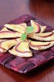 Pastelaria de sopro com nectarina fotografia de stock