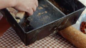 Pastelaria de sopro cozida video estoque