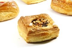 Pastelaria de sopro Danishes da manteiga imagem de stock royalty free