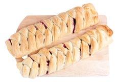 Pastelaria de sopro de duas tortas. Imagem de Stock