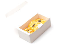 Pastelaria de sopro na caixa fotografia de stock royalty free