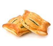 Pastelaria de sopro. Pastel saudável com espinafre. foto de stock royalty free