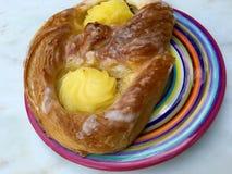 Pastelaria dinamarquesa com pudim Fotos de Stock Royalty Free