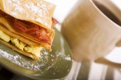 Pastelaria do bacon e do ovo Foto de Stock Royalty Free