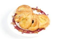 Pastelaria do dinamarquês do abacaxi Fotografia de Stock