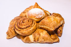 Pastelaria fresca dos croissant Fotos de Stock Royalty Free