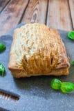 Pastelaria fresca dos salmões fotografia de stock