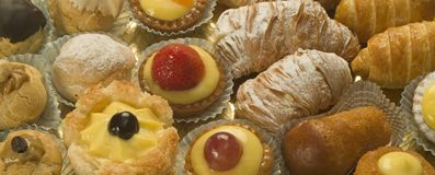 Pastelaria italiana Fotos de Stock