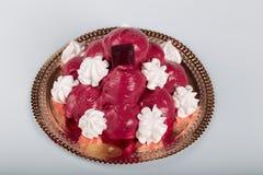 Pastelaria italiana: profiteroles do chocolate imagem de stock