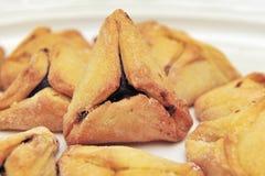 Pastelaria judaica Hamantashen de Purim Fotografia de Stock