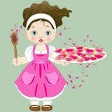 Pastelaria pequena com pastelarias coração-dadas forma Foto de Stock