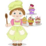 A pastelaria pequena no fundo branco Imagens de Stock Royalty Free