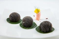 Pastelaria preta do chinês do sésamo Imagem de Stock Royalty Free