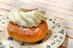 Pastelaria sueco do semla Foto de Stock