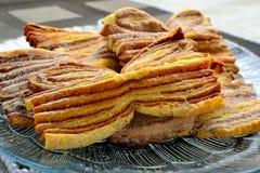 Pastelarias caseiros com canela Foto de Stock Royalty Free