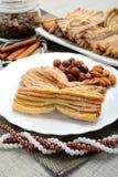 Pastelarias caseiros com canela Imagem de Stock Royalty Free