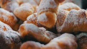 Pastelarias caseiros frescas video estoque