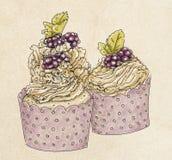 Pastelarias do fruto e do creme Imagem de Stock Royalty Free