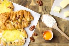 Pastelarias e ingredientes Imagem de Stock