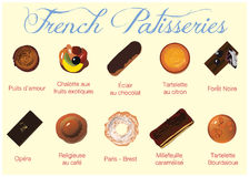 Pastelarias francesas Imagem de Stock