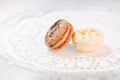 Pastelarias francesas de Macarons Foto de Stock