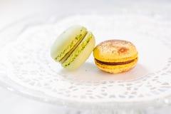 Pastelarias francesas de Macarons Fotos de Stock Royalty Free