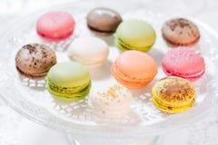 Pastelarias francesas de Macarons Imagem de Stock Royalty Free