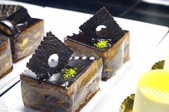 Pastelarias turcas orientais com creme e fruto Foto de Stock