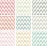 Pastele barwiący szewronów wzory ilustracji
