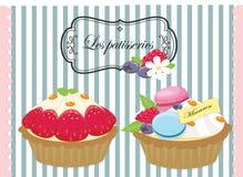 Pastelería sabrosa, pasteles, empanada, torta Stock de ilustración