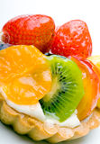 Pasteles agrios deliciosos de la fruta de postre con crema Fotos de archivo libres de regalías