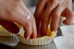 Pasteles cortos hechos a mano Foto de archivo libre de regalías