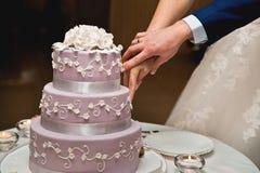Pasteles de bodas Foto de archivo libre de regalías