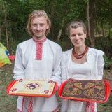 Pasteles de bodas Imágenes de archivo libres de regalías