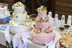 Pasteles de bodas Alta agudeza boda Foto de archivo