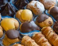 Pasteles de la diversidad desde arriba foto de archivo libre de regalías
