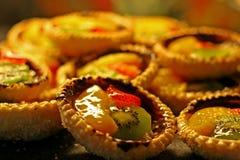 Pasteles de la fruta Foto de archivo libre de regalías