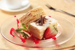 Pasteles de Mille-feuille Fotos de archivo