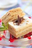 Pasteles de Mille-feuille Foto de archivo