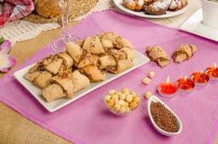Pasteles de Rugelach Imagen de archivo libre de regalías