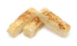 Pasteles de soplo con cinamomo Foto de archivo libre de regalías