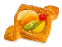 Pasteles de soplo con las frutas foto de archivo libre de regalías