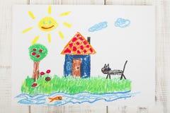 Pasteles del aceite del dibujo Foto de archivo libre de regalías