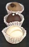 Pasteles del chocolate Imágenes de archivo libres de regalías