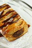 Pasteles del chocolate con la fork Foto de archivo libre de regalías
