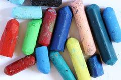 Pasteles del color, fondo blanco fotografía de archivo libre de regalías